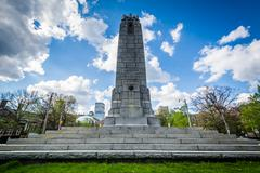 Monument at Queen's Park, in Toronto, Ontario. Stock Photos