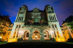 The Legislative Assembly of Ontario at night, at Queen's Park, in Toronto, On Stock Photos