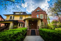 The Scott House, at the University of Toronto, in Toronto, Ontario. Stock Photos