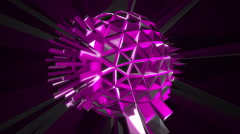 Pulsating ball spikes Stock Footage