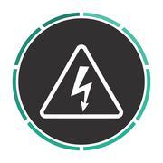 High voltage computer symbol - stock illustration