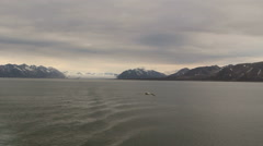 View to Svalbard from floating vessel. Stock Footage