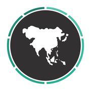 Asia computer symbol Stock Illustration