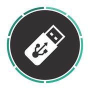 USB flash drive computer symbol Stock Illustration