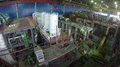 Working process on power plant, aerial view Stock Footage