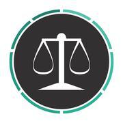 justice scale computer symbol - stock illustration