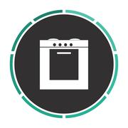 stove computer symbol - stock illustration