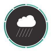 rain computer symbol - stock illustration