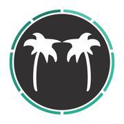 Palms computer symbol Stock Illustration