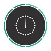 Dial clock computer symbol Stock Illustration