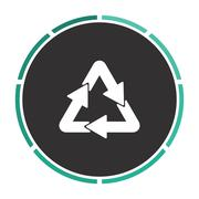Recycle computer symbol Stock Illustration