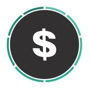 Dollar computer symbol - stock illustration