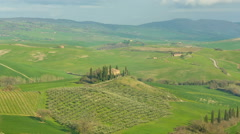 Rolling Hills of Tuscany, Italy Stock Footage
