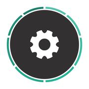 Gearwheel computer symbol Stock Illustration