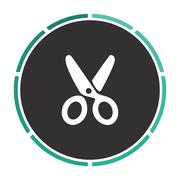 Shears computer symbol Stock Illustration