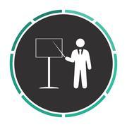 Training computer symbol - stock illustration