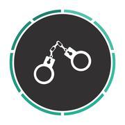 Handcuffs computer symbol Stock Illustration