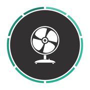 Fan computer symbol Stock Illustration