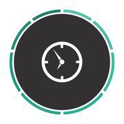 Clock computer symbol Stock Illustration