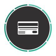 Credit card computer symbol Stock Illustration
