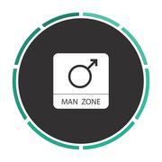 Man gender computer symbol Stock Illustration