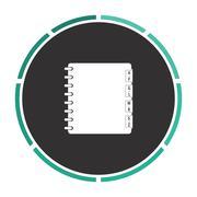 Organizer computer symbol - stock illustration