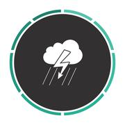 Thunderstorm computer symbol Stock Illustration