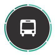 Autobus computer symbol Stock Illustration