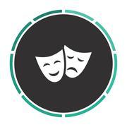 masks computer symbol - stock illustration