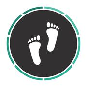 Footprint computer symbol - stock illustration