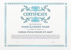Template that is used in certificate, currency and diplomas Stock Illustration