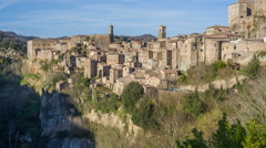 Sorano - Etruscan tuff city, Italy Stock Footage