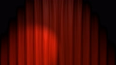 Red Curtain Stage With Green Screen Stock Footage