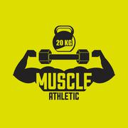 athletic training design - stock illustration