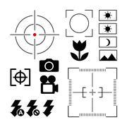 focus camera design - stock illustration