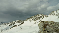 Motion timelapse on mountain and ski slopes Stock Footage