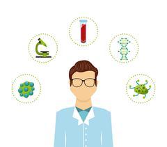 Biology science design Stock Illustration