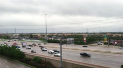 Stafford, Texas - May 3, 2016  Police working an accident on hwy 59 4k - stock footage