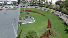 Flying over Izmir Republic Square 4K Aerial Clip Captured by Drone Cam Stock Footage