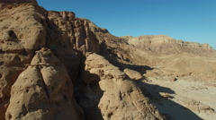 Stone desert. The view from the height of bird flight Stock Footage
