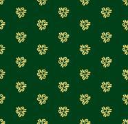 Floral Fine Seamless Pattern - stock illustration