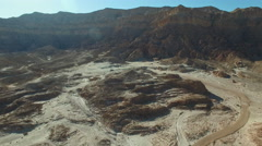 Global warming, dry riverbeds in the desert Stock Footage