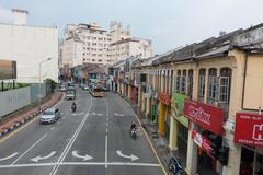 Traffic jam in Georgetown, Penang, Malaysia Stock Photos
