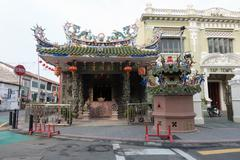 Usk view of the Choo Chay Keong Temple Stock Photos