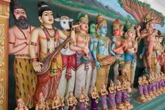 Statues of Hindu God in Sri Mahamariamman Indian Temple Kuvituskuvat