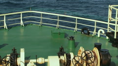 View from a rostrum. Fising trawler Stock Footage