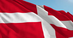 Beautiful looping flag blowing in wind: Sovereign Order Malta - stock footage