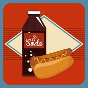 Fast food and soda design Stock Illustration