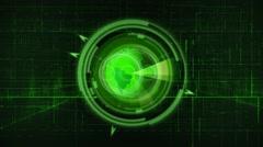 Technology Globe Green 4K Loop - stock footage