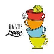delicious tea design - stock illustration